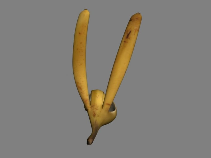 Main banane truquée royalty-free 3d model - Preview no. 4