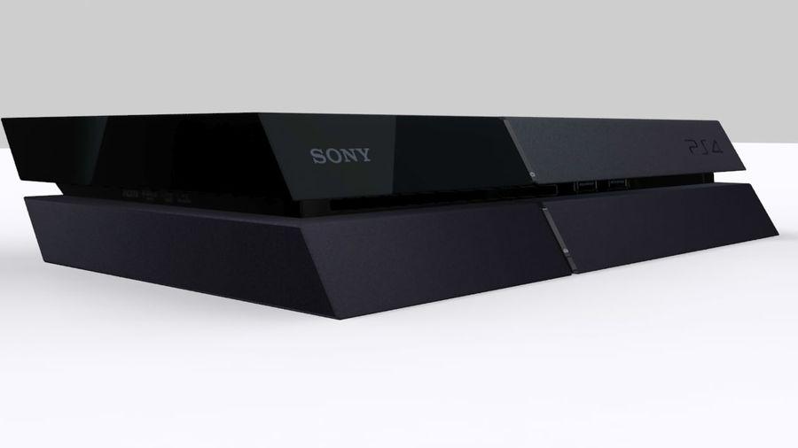 索尼PlayStation 4 PS4 royalty-free 3d model - Preview no. 3