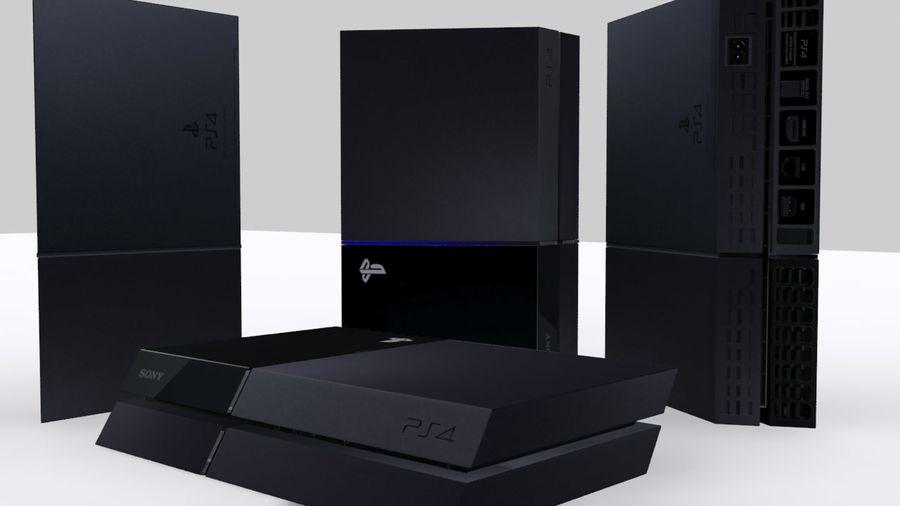 索尼PlayStation 4 PS4 royalty-free 3d model - Preview no. 5