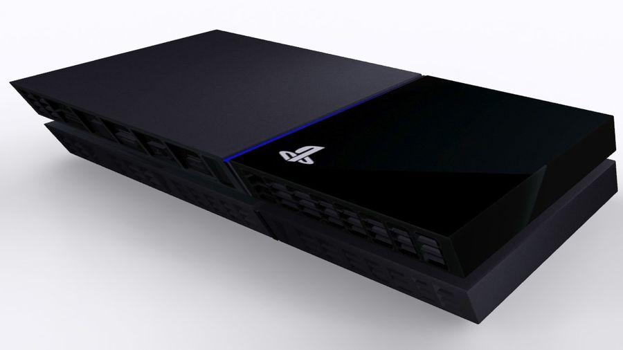 索尼PlayStation 4 PS4 royalty-free 3d model - Preview no. 2