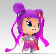 Anime figure 3d model