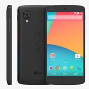Smartphone LG Google Nexus 5 nero 3d model