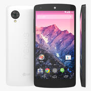 Smartphone LG Google Nexus 5 bianco 3d model