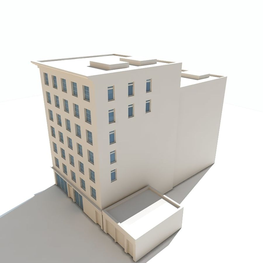 Bâtiments de la ville royalty-free 3d model - Preview no. 4