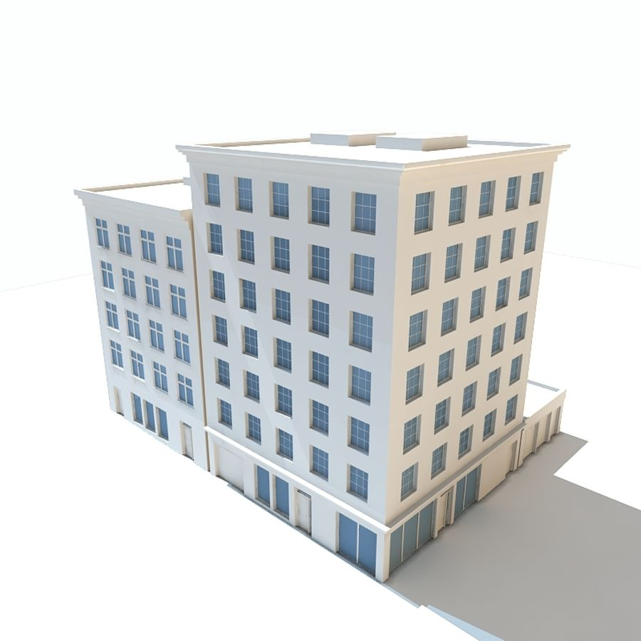 City Buildings royalty-free 3d model - Preview no. 3