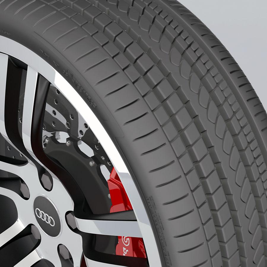 Ruota Audi R8 royalty-free 3d model - Preview no. 11