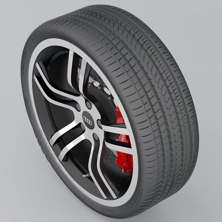 Ruota Audi R8 royalty-free 3d model - Preview no. 10