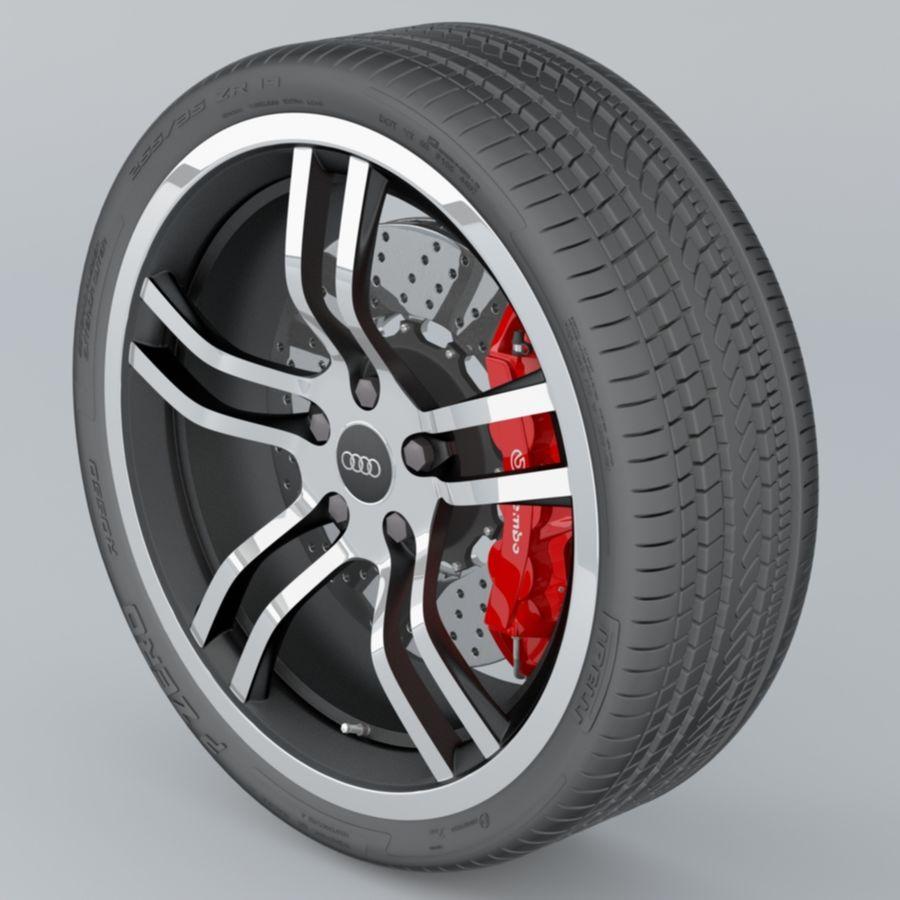 Ruota Audi R8 royalty-free 3d model - Preview no. 4