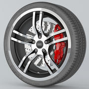 车轮奥迪R8 3d model