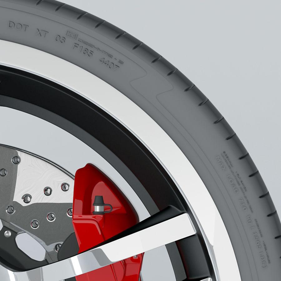 Ruota Audi R8 royalty-free 3d model - Preview no. 9