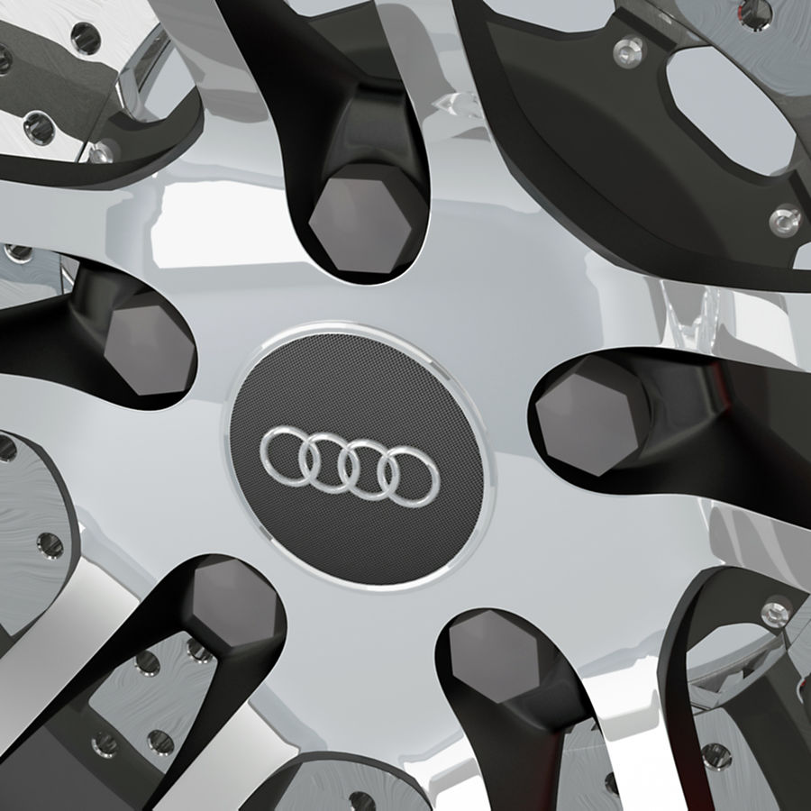 Ruota Audi R8 royalty-free 3d model - Preview no. 7