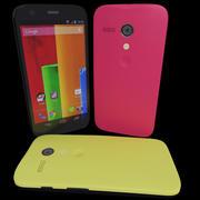 モトローラモトG黄色と赤バージョン 3d model