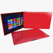 Nokia Lumia 2520 wersja czerwona 3d model