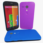 Motorola Moto G Blue and Pink Versions 3d model