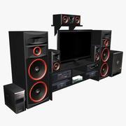 오디오 시스템 3d model