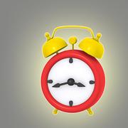 卡通时钟2 3d model