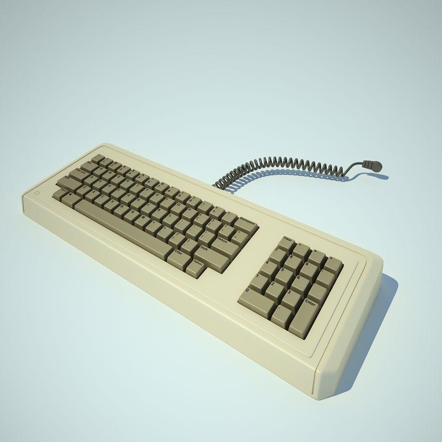 Keyboard Apple Lisa Computer royalty-free 3d model - Preview no. 7