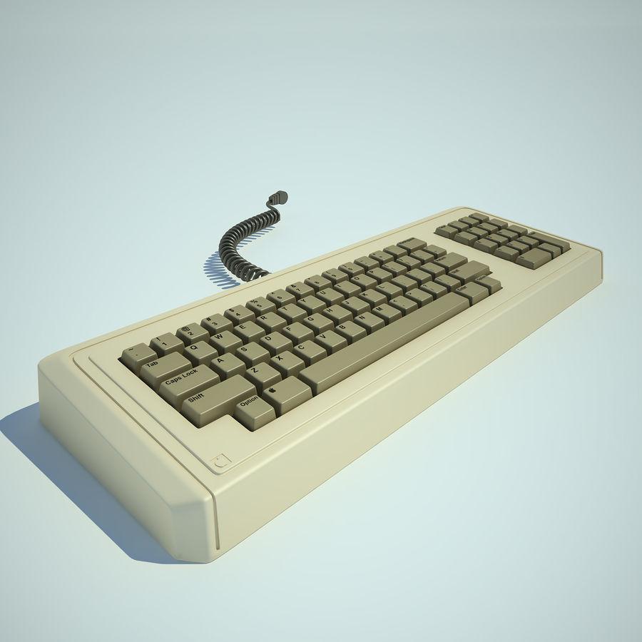 Keyboard Apple Lisa Computer royalty-free 3d model - Preview no. 2