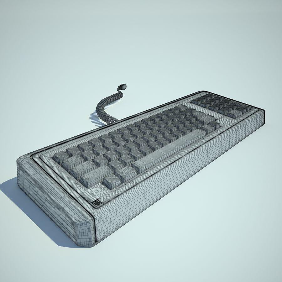 Keyboard Apple Lisa Computer royalty-free 3d model - Preview no. 3