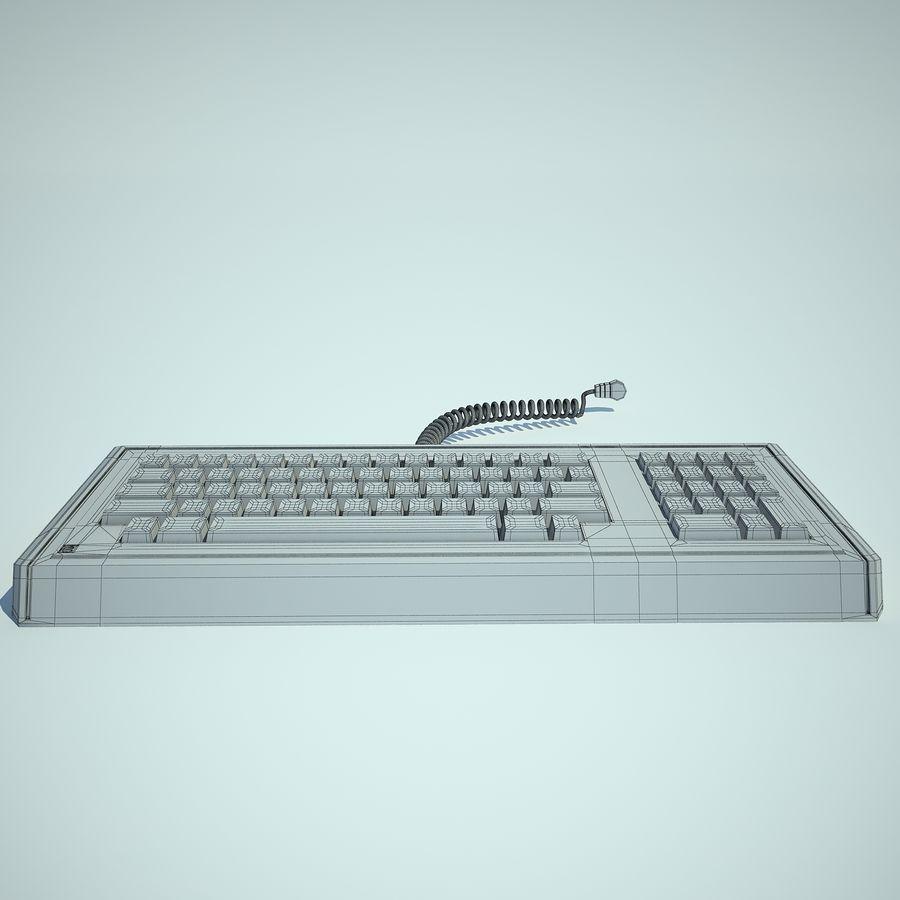 Keyboard Apple Lisa Computer royalty-free 3d model - Preview no. 6