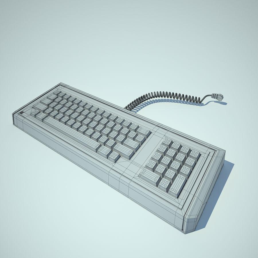 Keyboard Apple Lisa Computer royalty-free 3d model - Preview no. 8