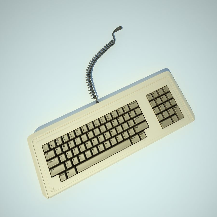 Keyboard Apple Lisa Computer royalty-free 3d model - Preview no. 13
