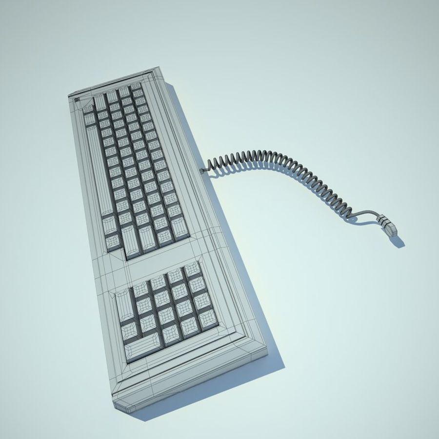 Keyboard Apple Lisa Computer royalty-free 3d model - Preview no. 10