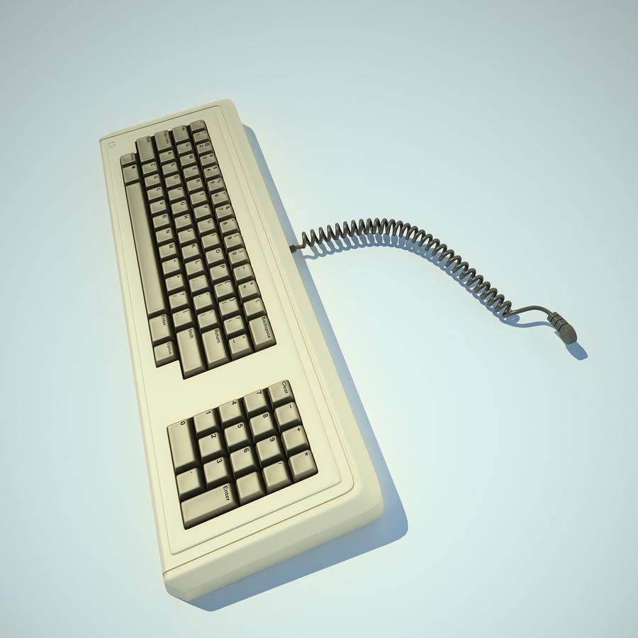 Keyboard Apple Lisa Computer royalty-free 3d model - Preview no. 9