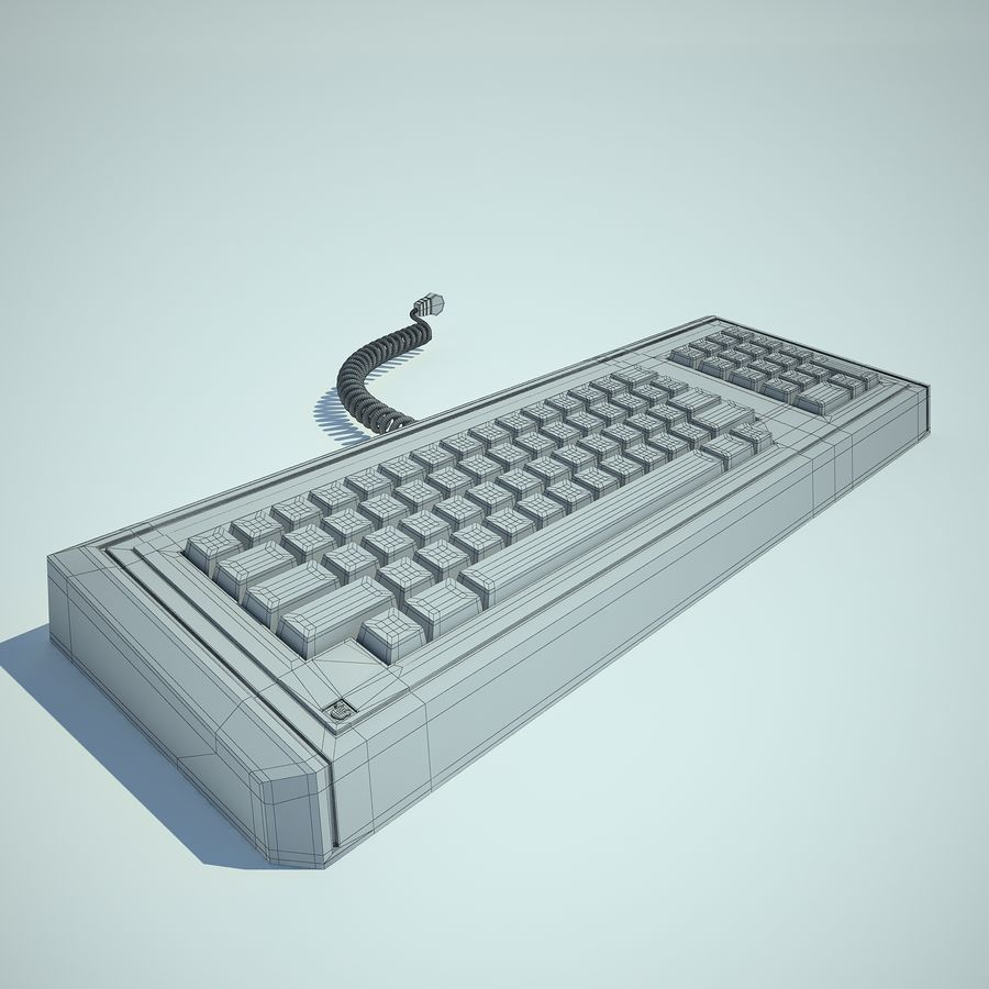 Keyboard Apple Lisa Computer royalty-free 3d model - Preview no. 4