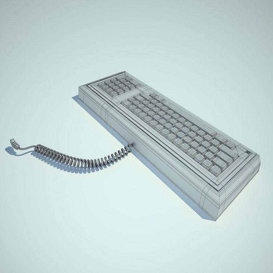 Keyboard Apple Lisa Computer royalty-free 3d model - Preview no. 12