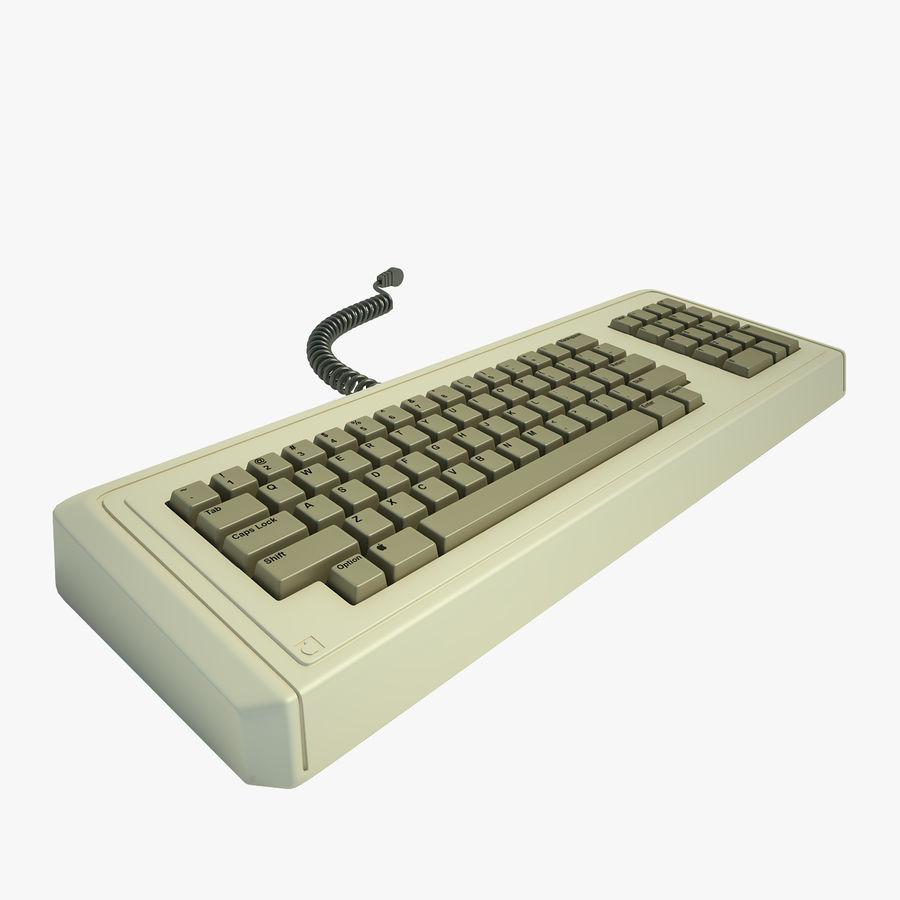 Keyboard Apple Lisa Computer royalty-free 3d model - Preview no. 1
