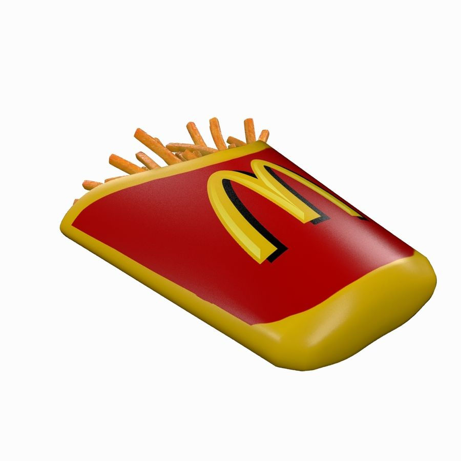 Pommes frites royalty-free 3d model - Preview no. 7