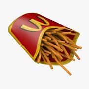 Papas fritas modelo 3d