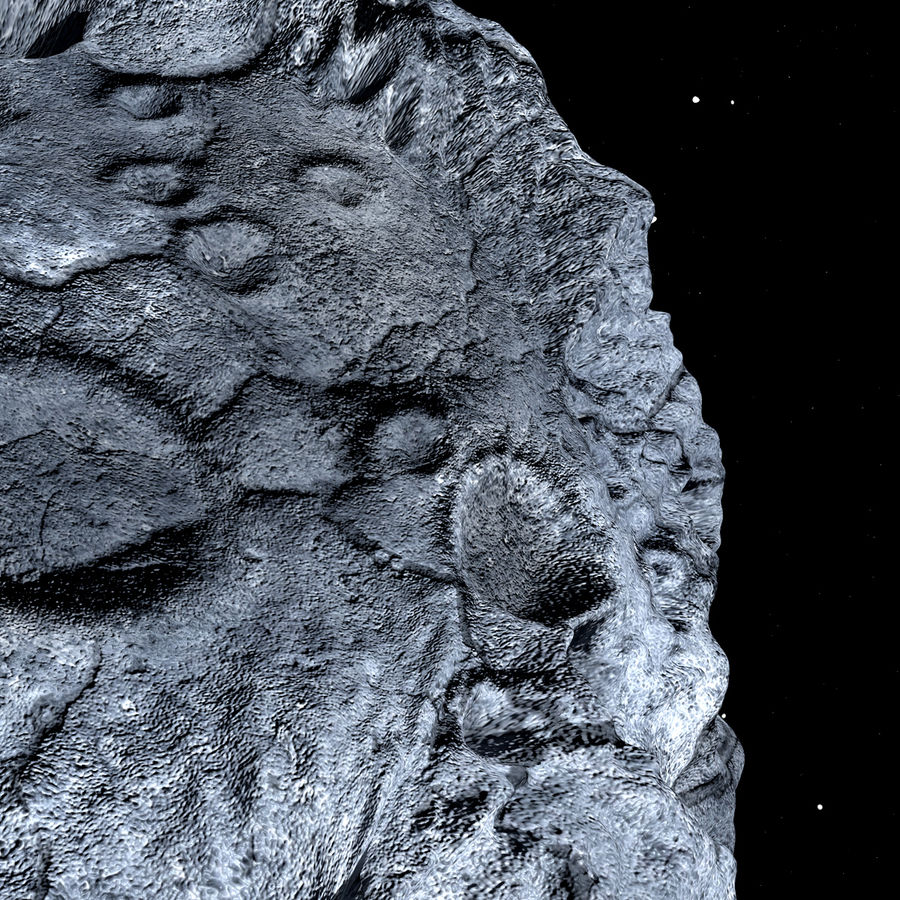 Asteroid royalty-free 3d model - Preview no. 14