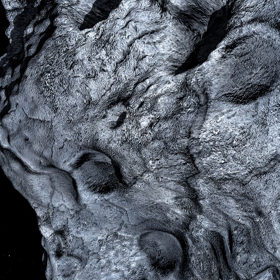 Asteroid royalty-free 3d model - Preview no. 11
