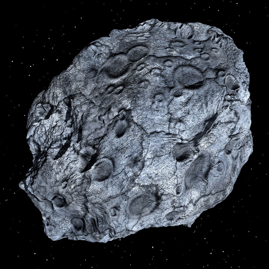 Asteroid royalty-free 3d model - Preview no. 2