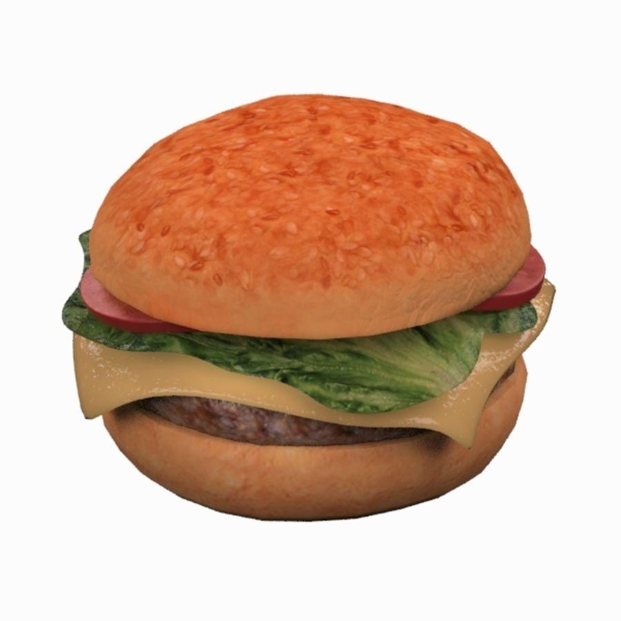Hamburger royalty-free 3d model - Preview no. 6