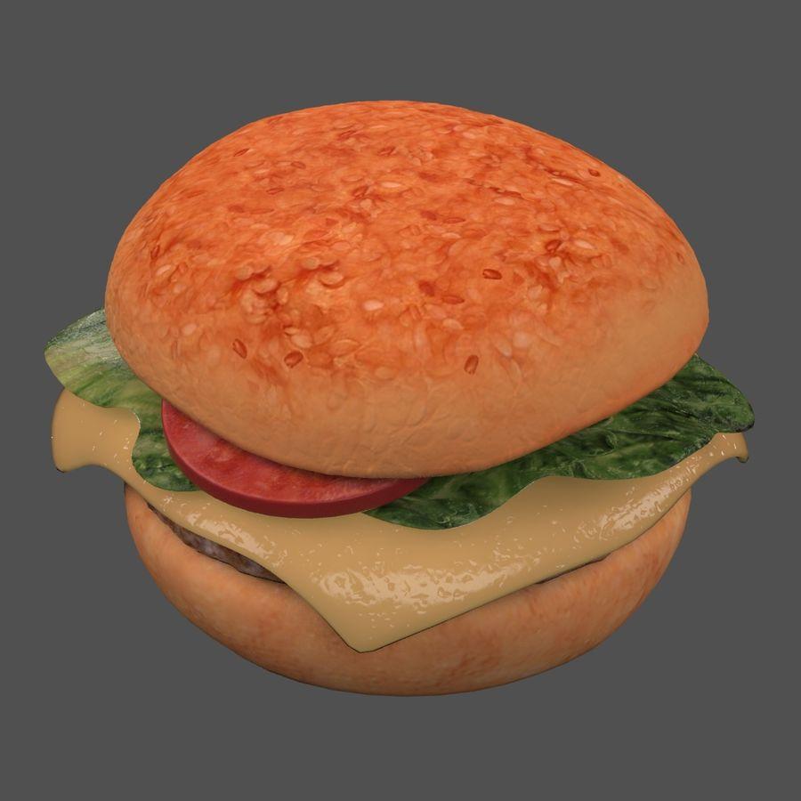 Hamburger royalty-free 3d model - Preview no. 2