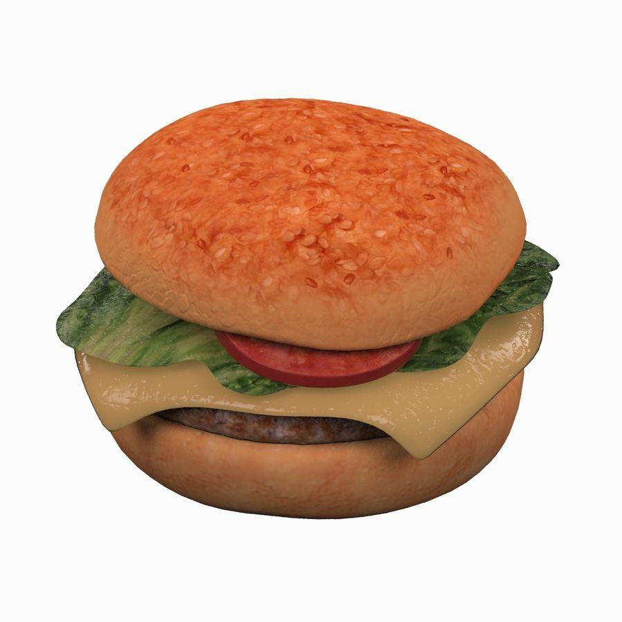 Hamburger royalty-free 3d model - Preview no. 7