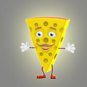 만화 치즈 3d model