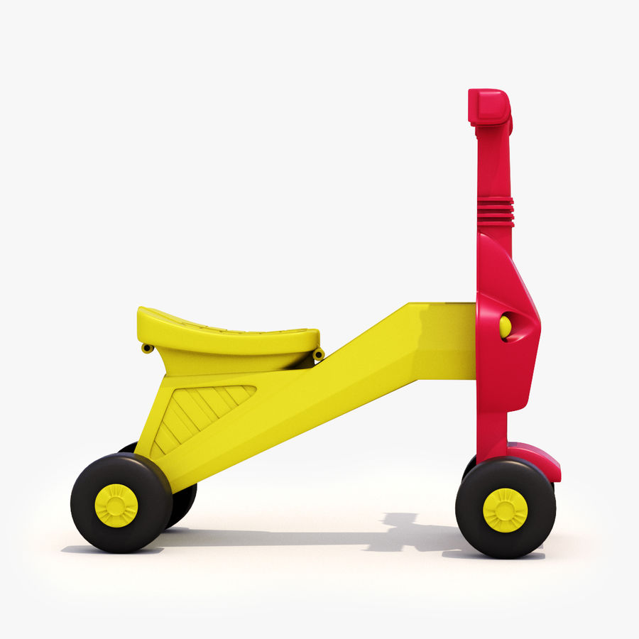 Toy Bike royalty-free 3d model - Preview no. 7