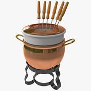 Fondue Pot modelo 3d
