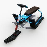 Traîneau à neige 3d model