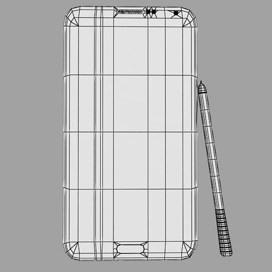 Samsung Galaxy Note 3 Pink royalty-free 3d model - Preview no. 12