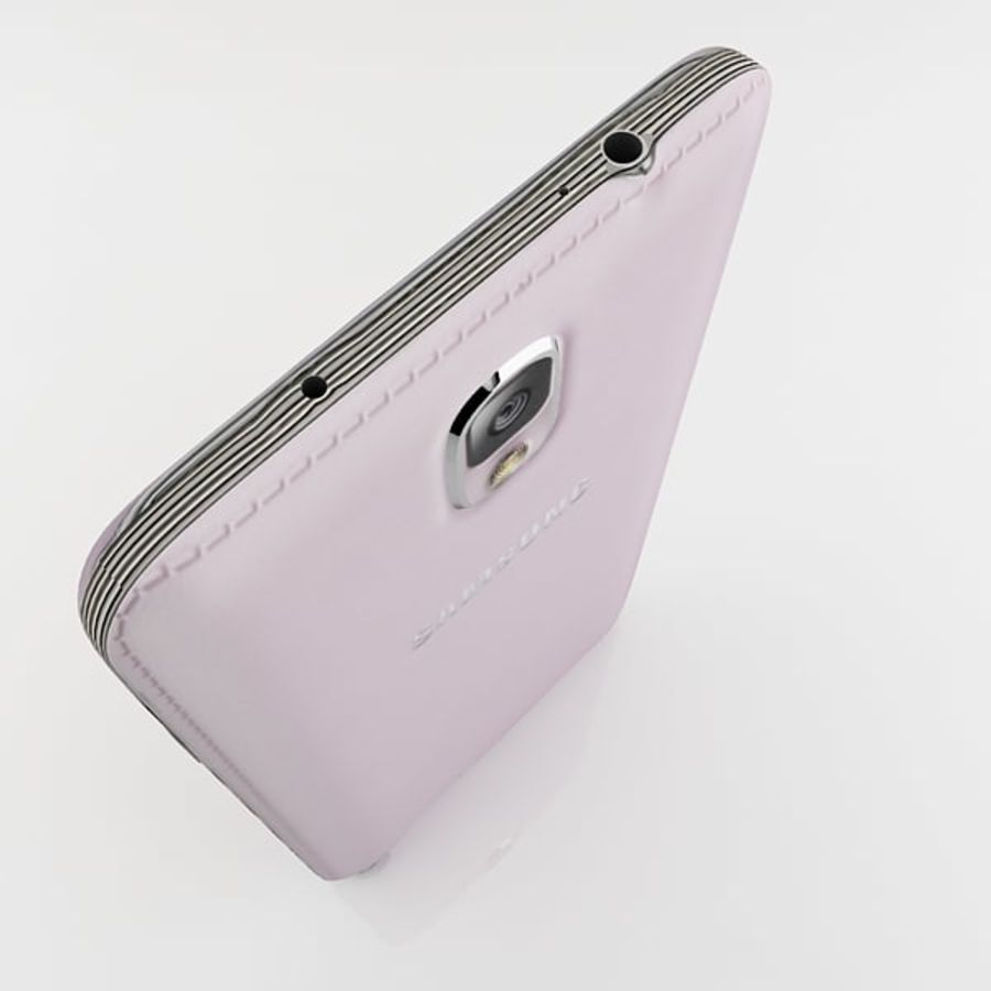 Samsung Galaxy Note 3 Pink royalty-free 3d model - Preview no. 10