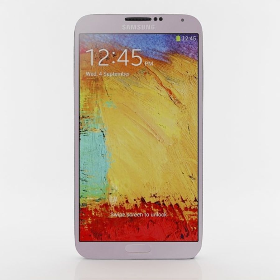 Samsung Galaxy Note 3 Pink royalty-free 3d model - Preview no. 4