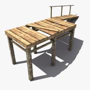 木製の桟橋3 3d model
