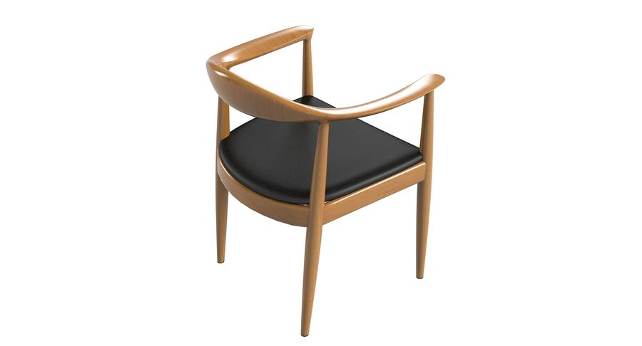 Cadeira redonda por Hans Wegner royalty-free 3d model - Preview no. 5