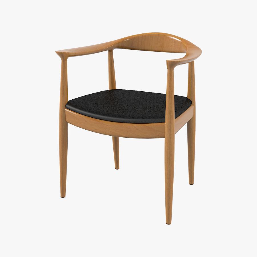 Cadeira redonda por Hans Wegner royalty-free 3d model - Preview no. 1