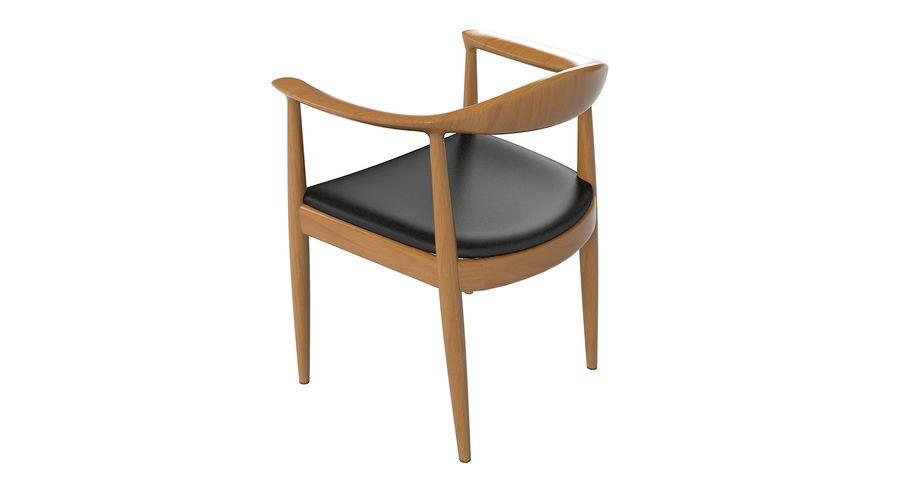 Cadeira redonda por Hans Wegner royalty-free 3d model - Preview no. 6